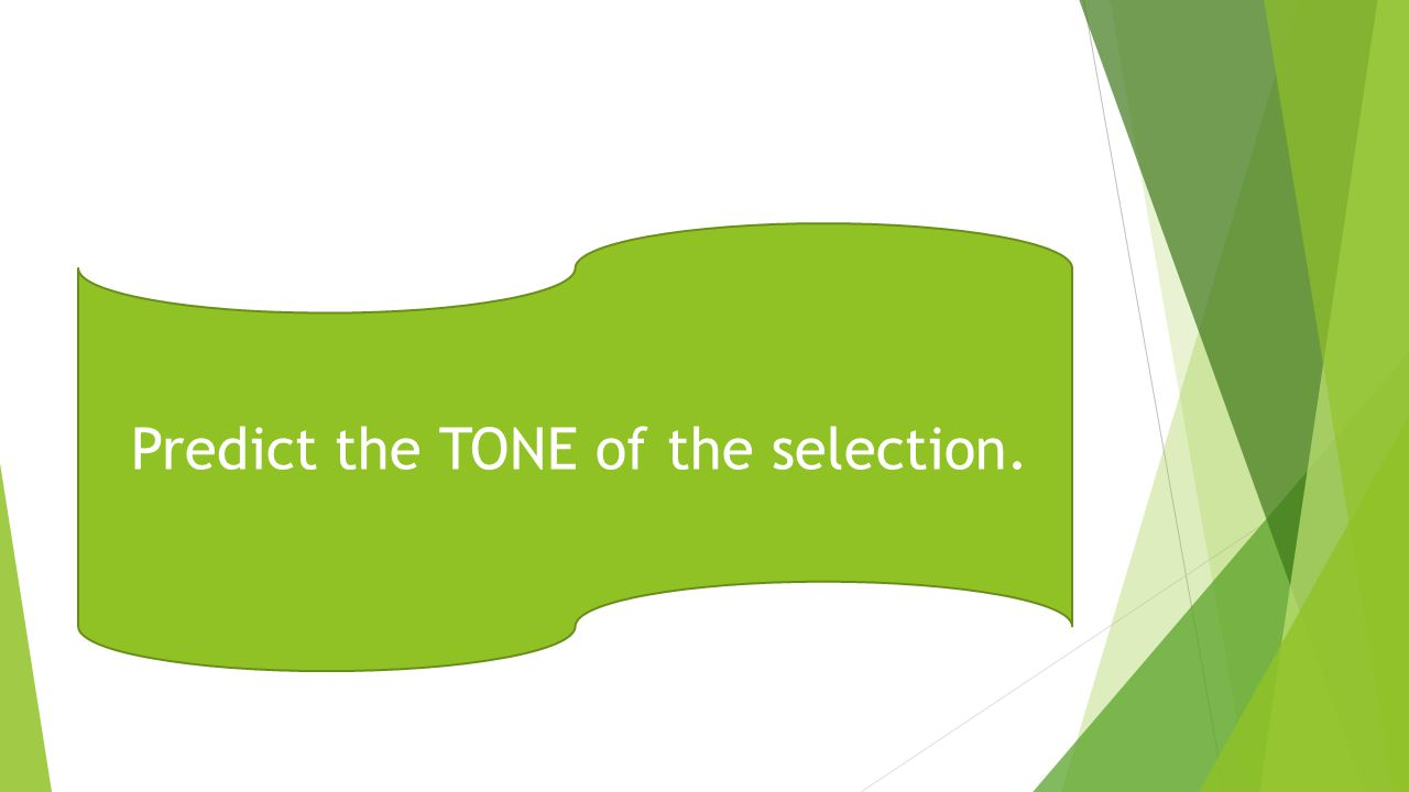 Predict the TONE of the selection.