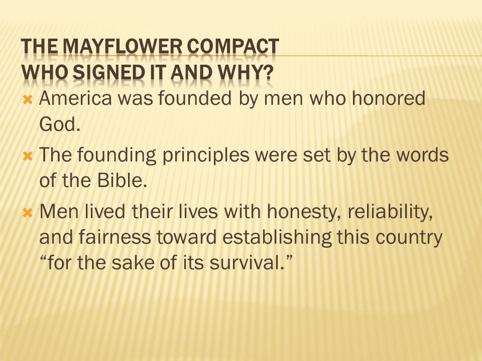 The Mayflower Compact Who signed it and why