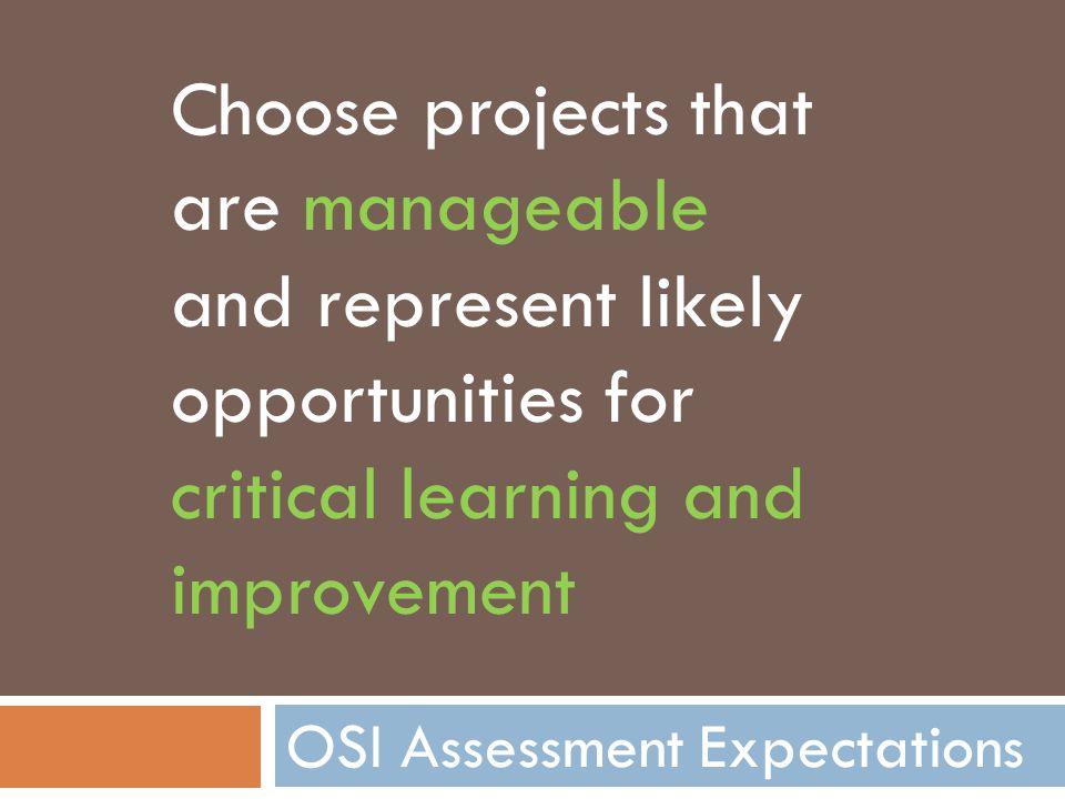 OSI Assessment Expectations