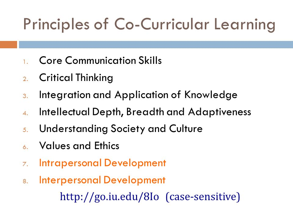 Principles of Co-Curricular Learning