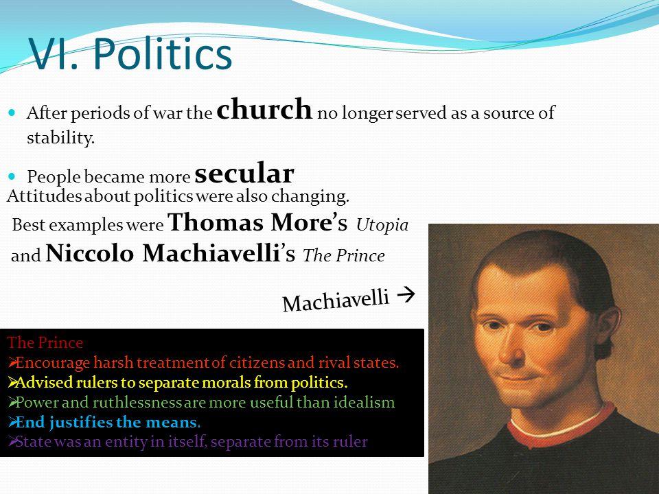 VI. Politics Machiavelli 