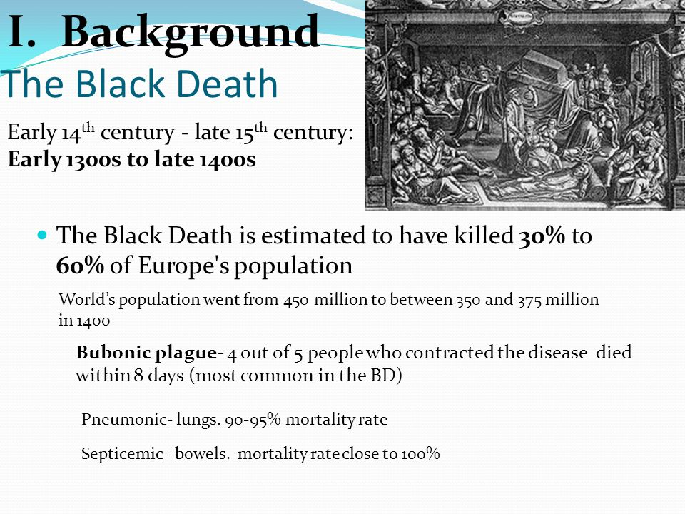 I. Background The Black Death