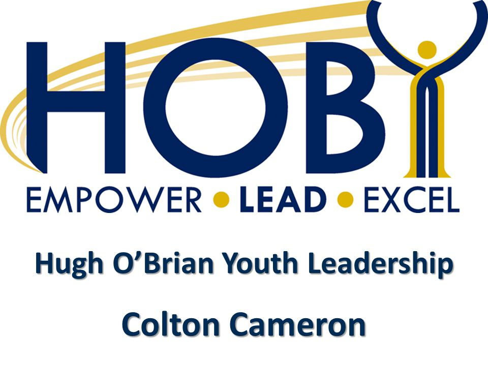 Hugh O'Brian Youth Leadership Colton Cameron