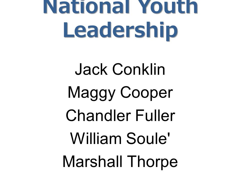 National Youth Leadership