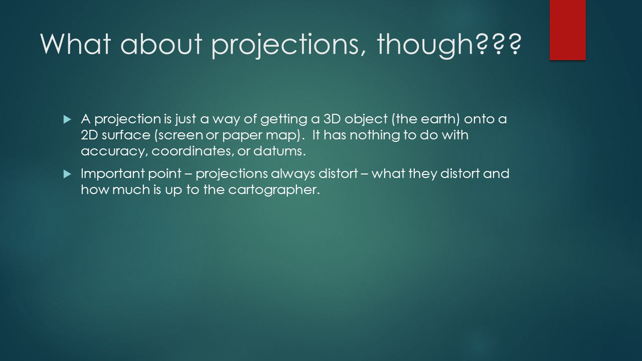 What about projections, though