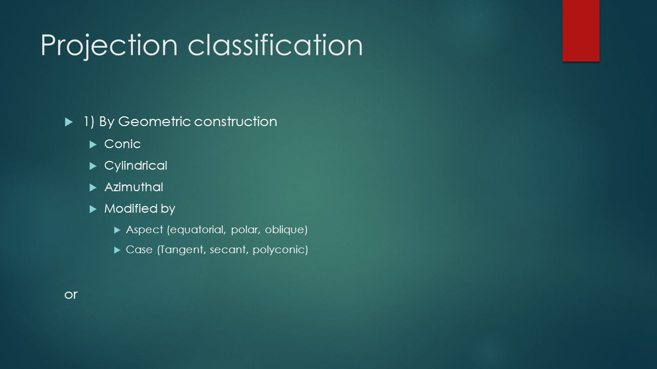 Projection classification