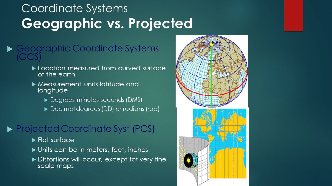 Coordinate Systems Geographic vs. Projected