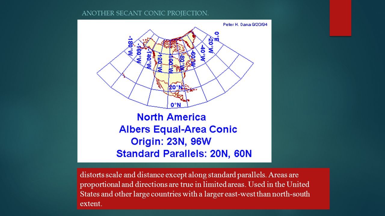 Another secant conic projection.