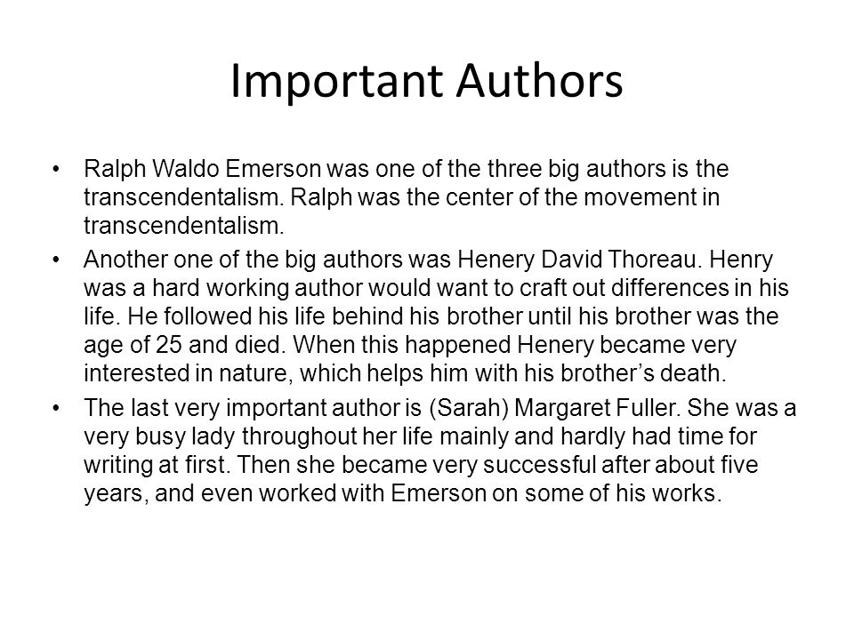 Important Authors