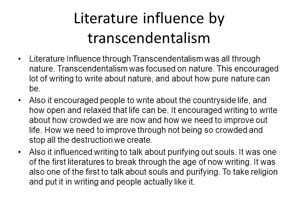 the transcendentalist essay Transcendentalist can be defined by their context by what they were fighting against, rebelling against they see the current situation at the time and.