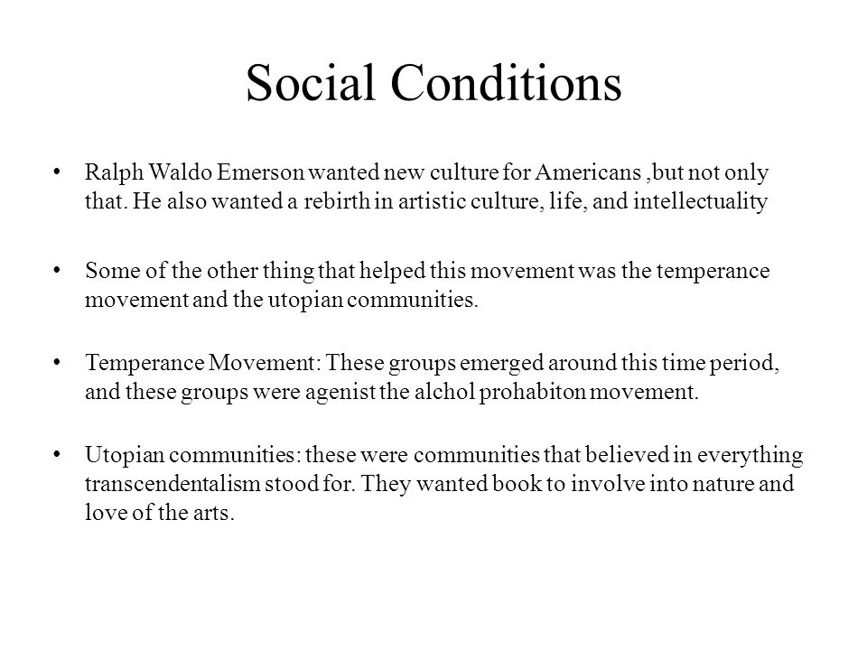 Social Conditions