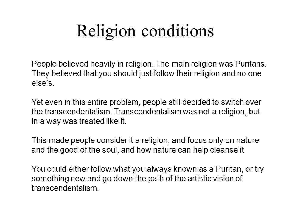 Religion conditions