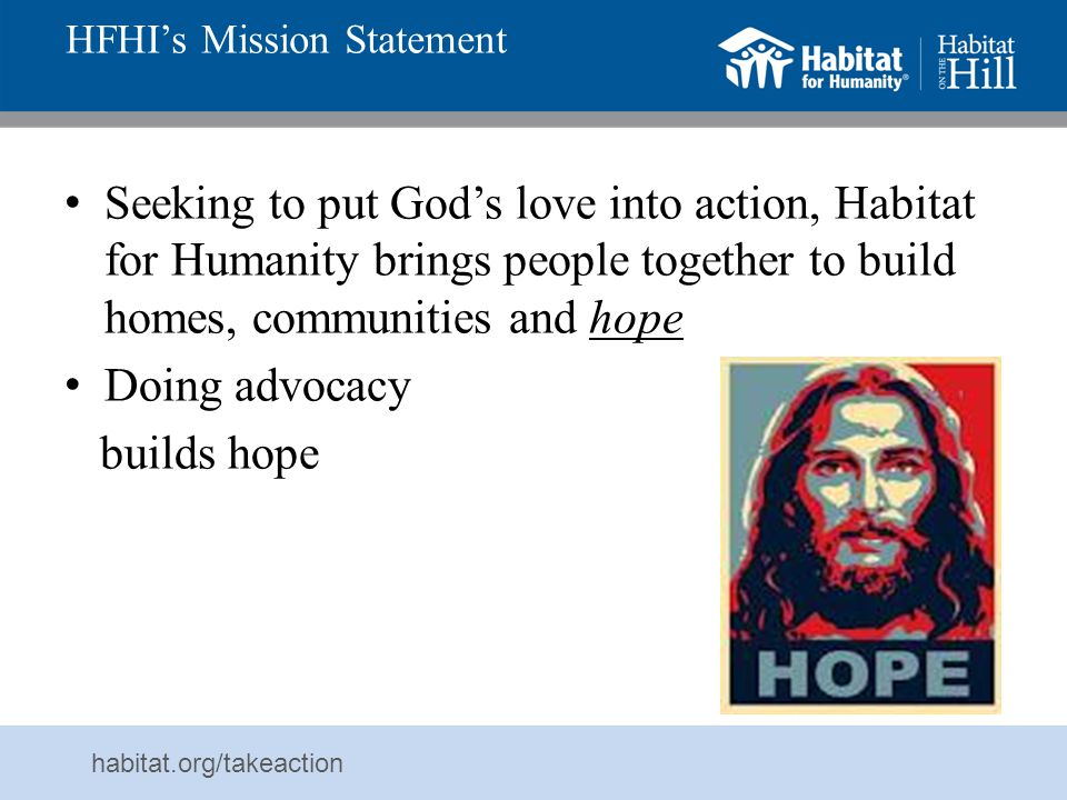 HFHI's Mission Statement