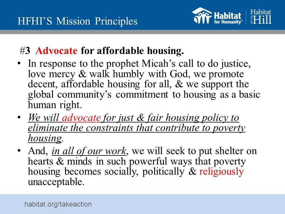HFHI'S Mission Principles