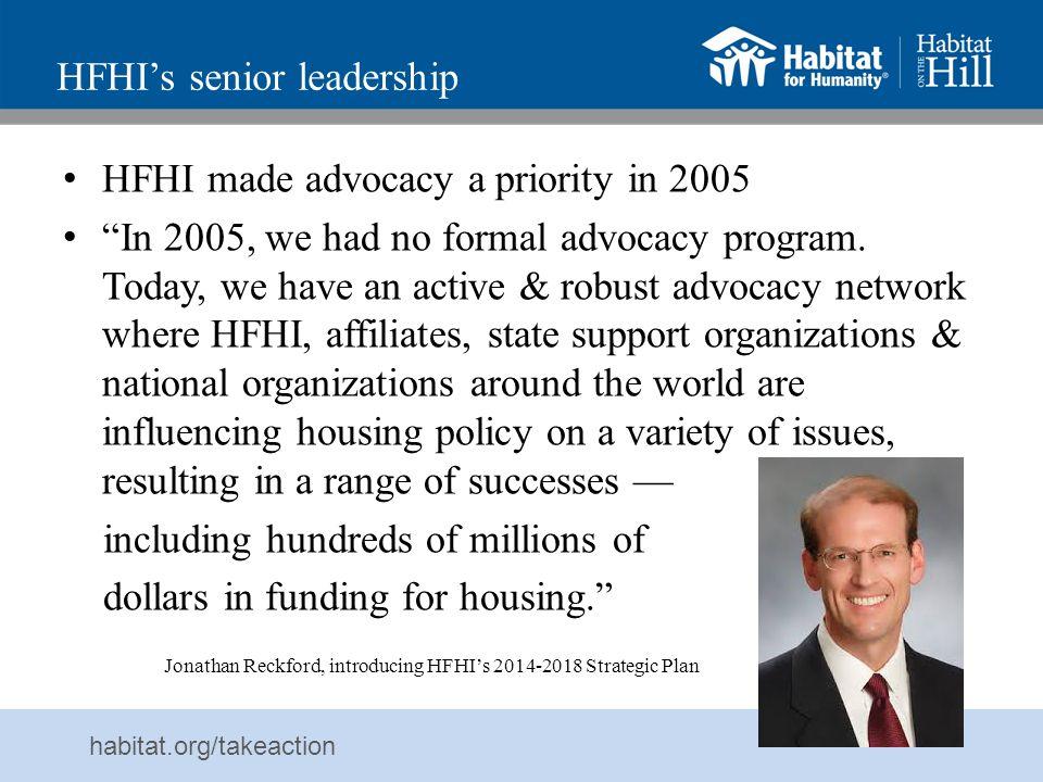 HFHI's senior leadership