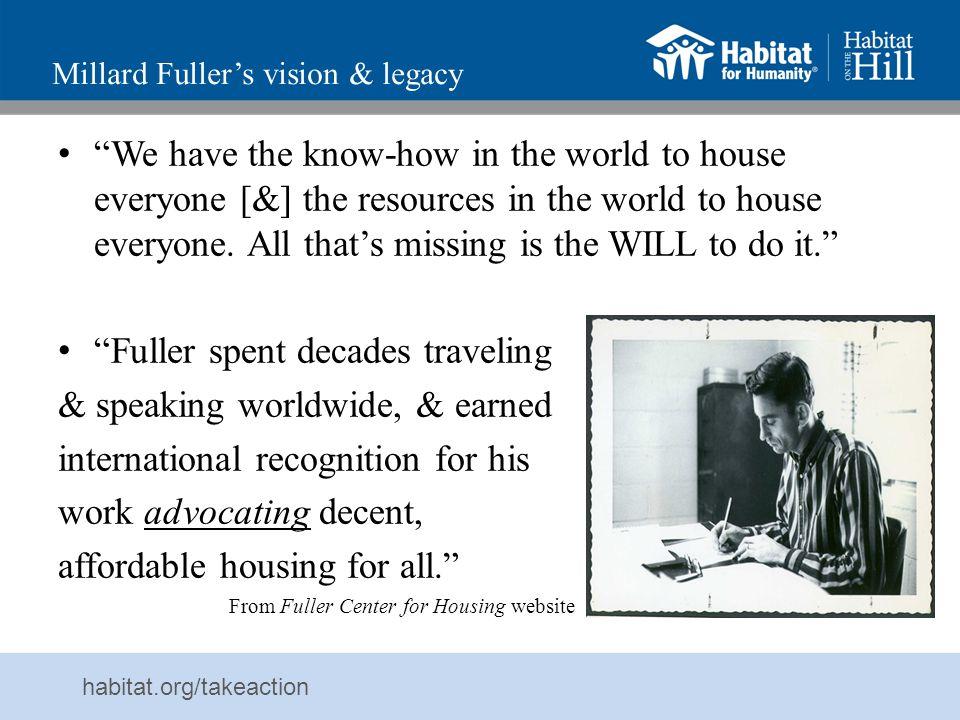 Millard Fuller's vision & legacy