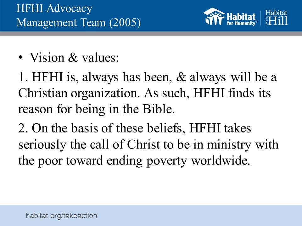 HFHI Advocacy Management Team (2005)