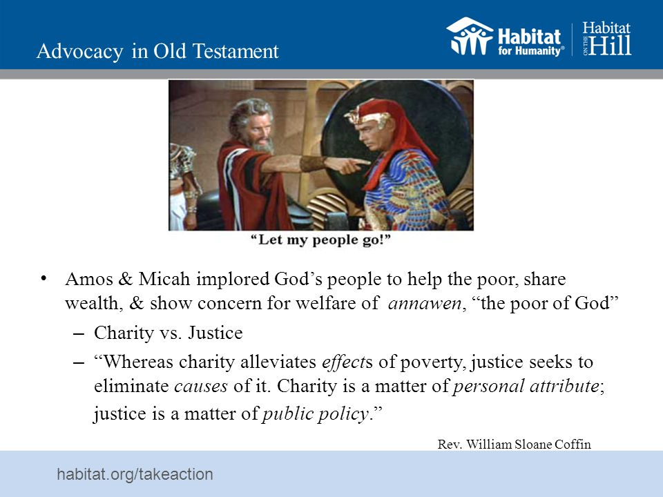 Advocacy in Old Testament
