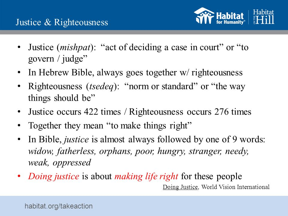 Justice & Righteousness