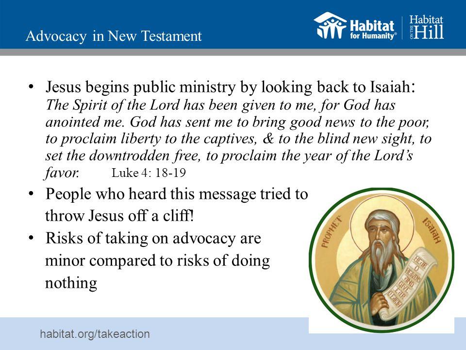Advocacy in New Testament