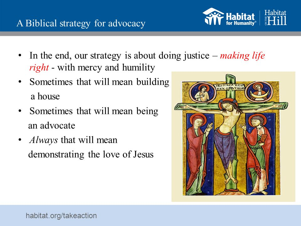 A Biblical strategy for advocacy