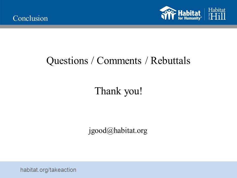 Questions / Comments / Rebuttals