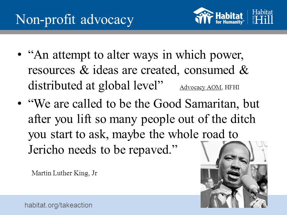 Non-profit advocacy