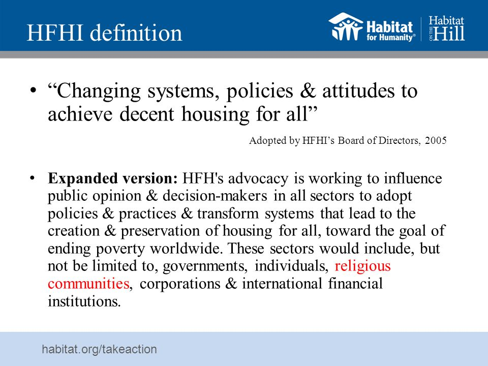 HFHI definition
