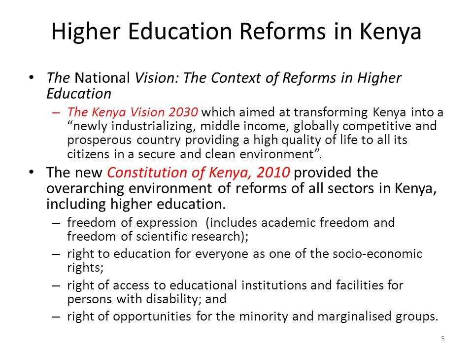 Higher Education Reforms in Kenya
