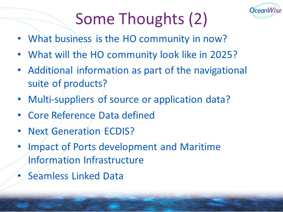 Some Thoughts (2) What business is the HO community in now