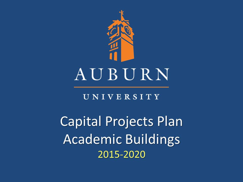 Capital Projects Plan Academic Buildings 2015-2020