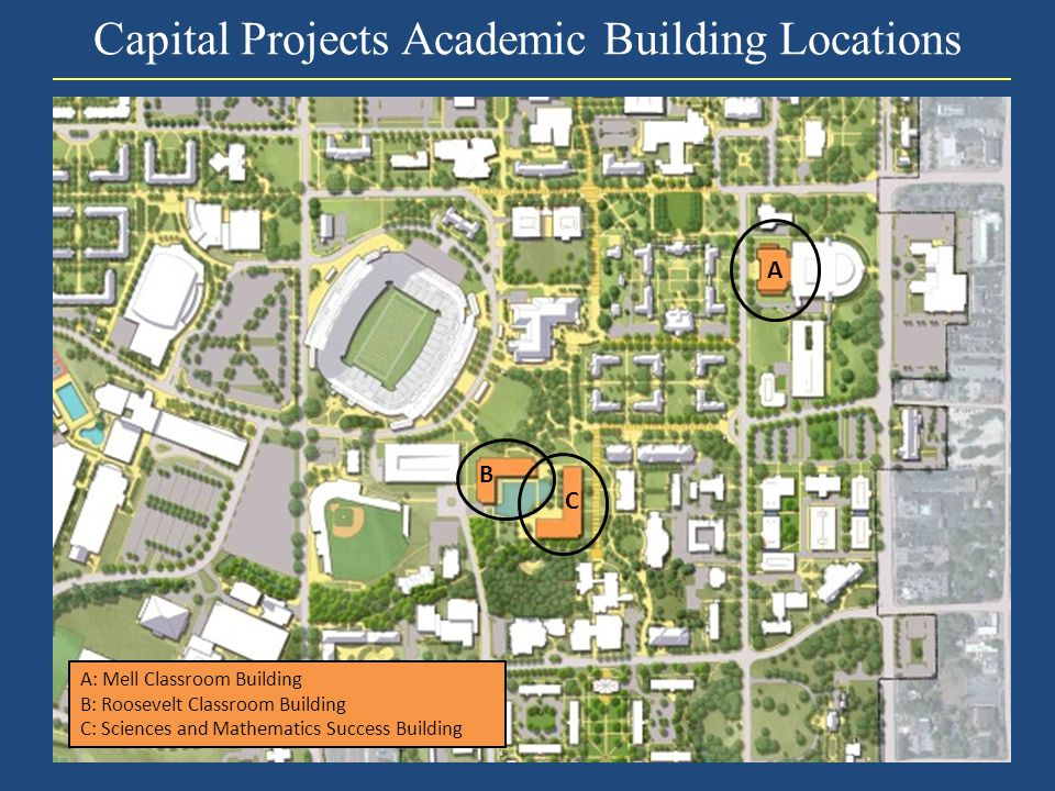 Capital Projects Academic Building Locations