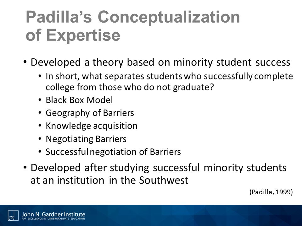 Padilla's Conceptualization of Expertise
