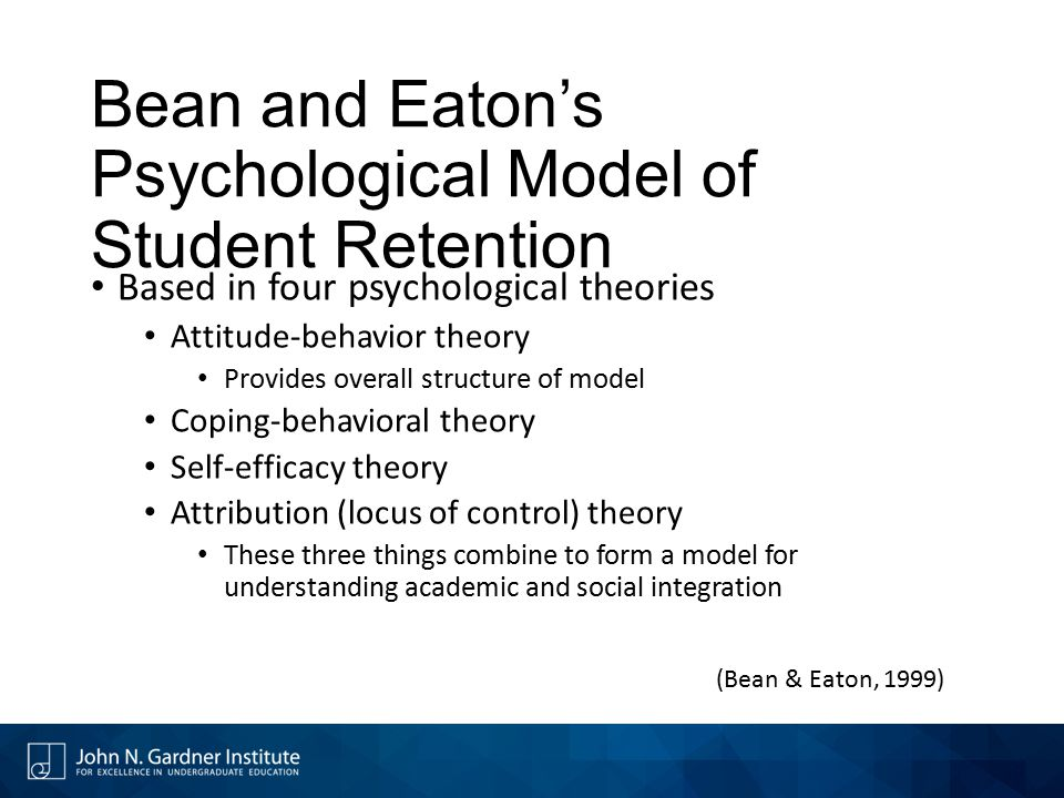 Bean and Eaton's Psychological Model of Student Retention