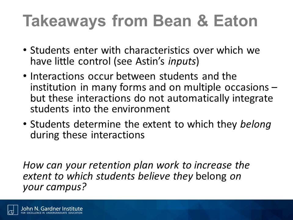 Takeaways from Bean & Eaton