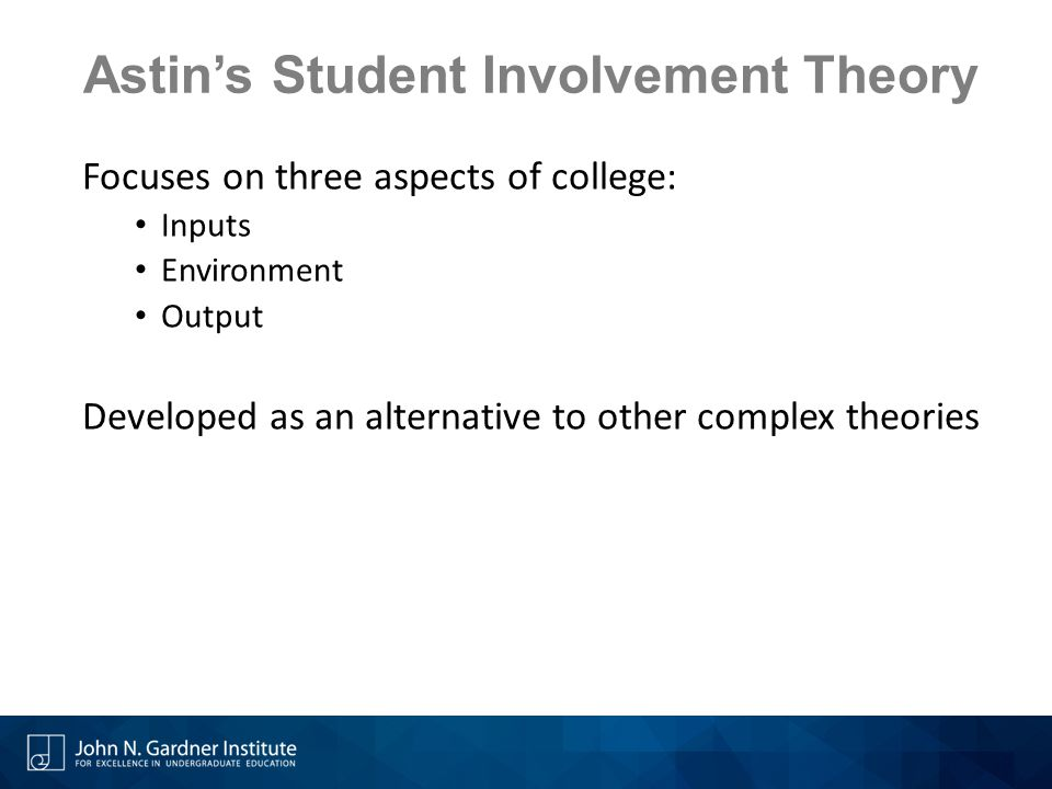 Astin's Student Involvement Theory