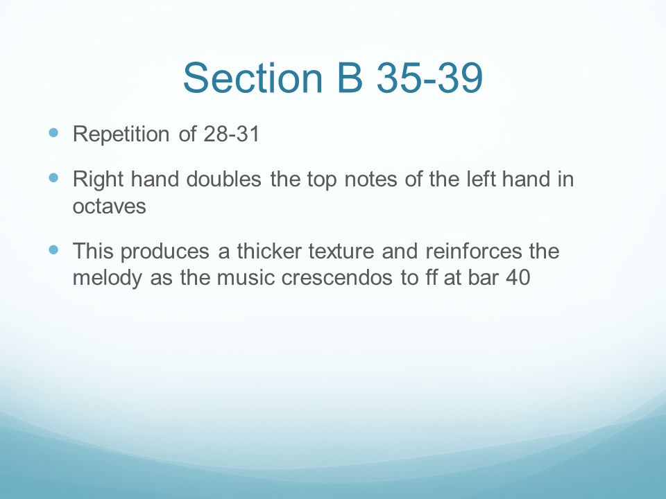 Section B 35-39 Repetition of 28-31