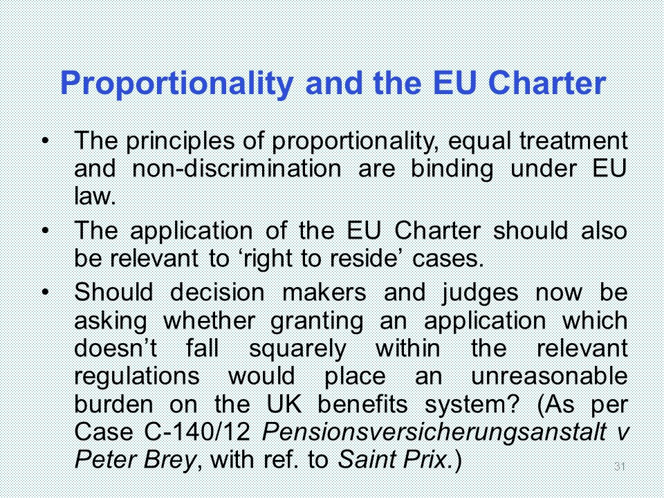 Proportionality and the EU Charter