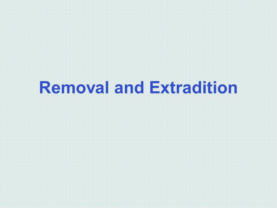 Removal and Extradition