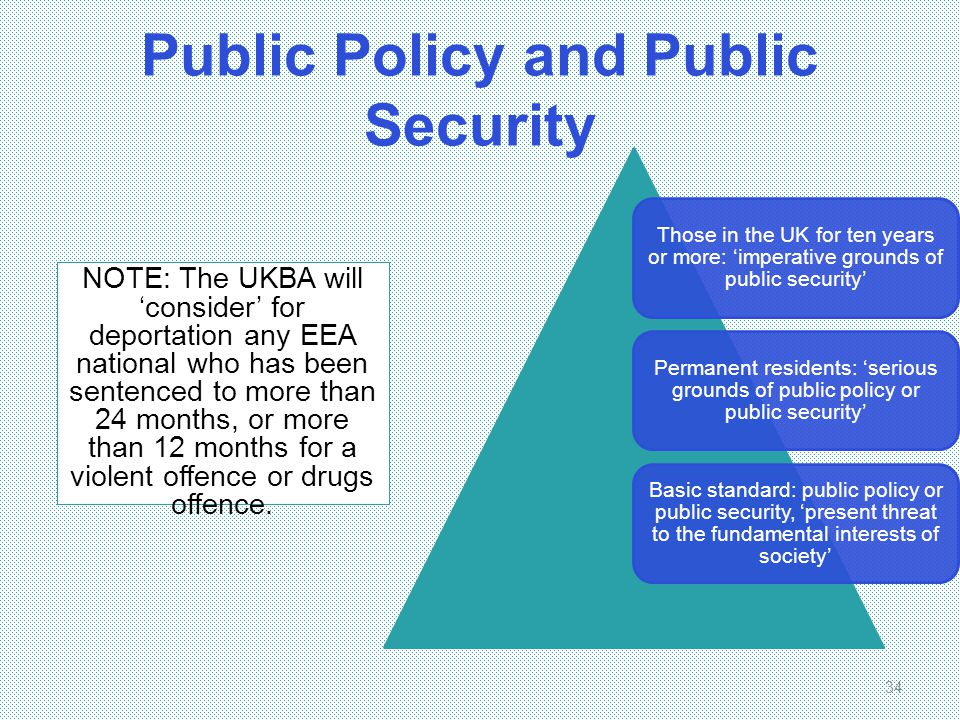Public Policy and Public Security
