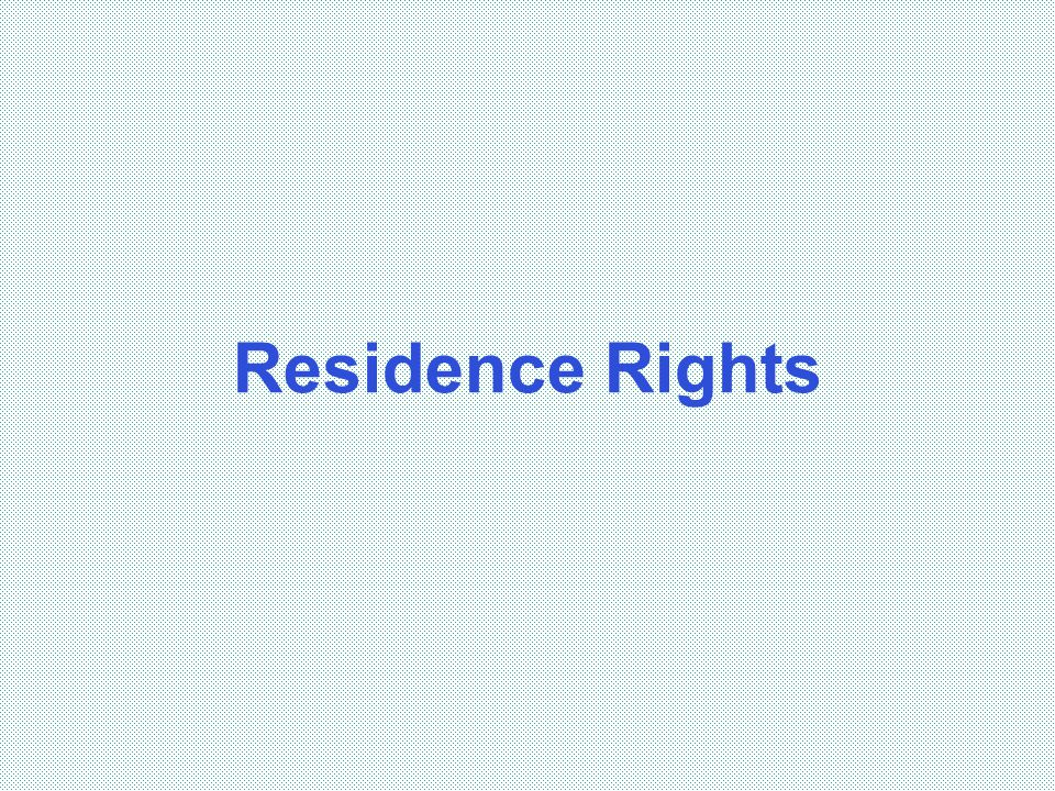 Residence Rights