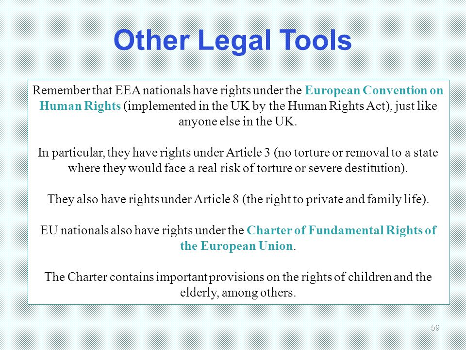 Other Legal Tools