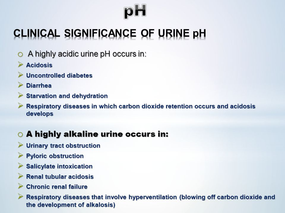 CLINICAL SIGNIFICANCE OF URINE pH