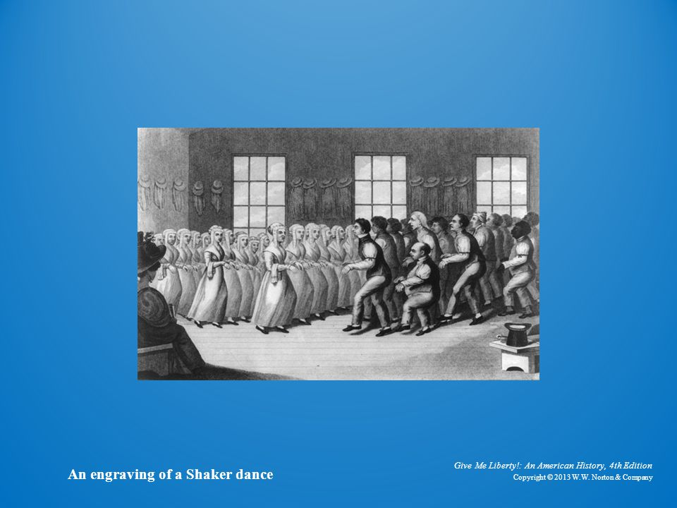 Engraving of Shaker Dance