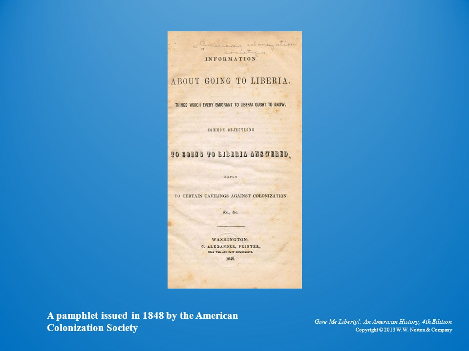 American Colonization Society Pamphlet