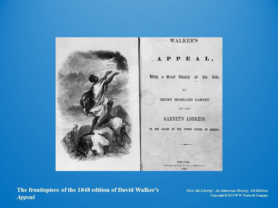 Frontispiece for Walker's Appeal and Garnet's Address