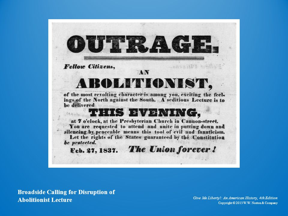 Anti-Abolitionist Broadside