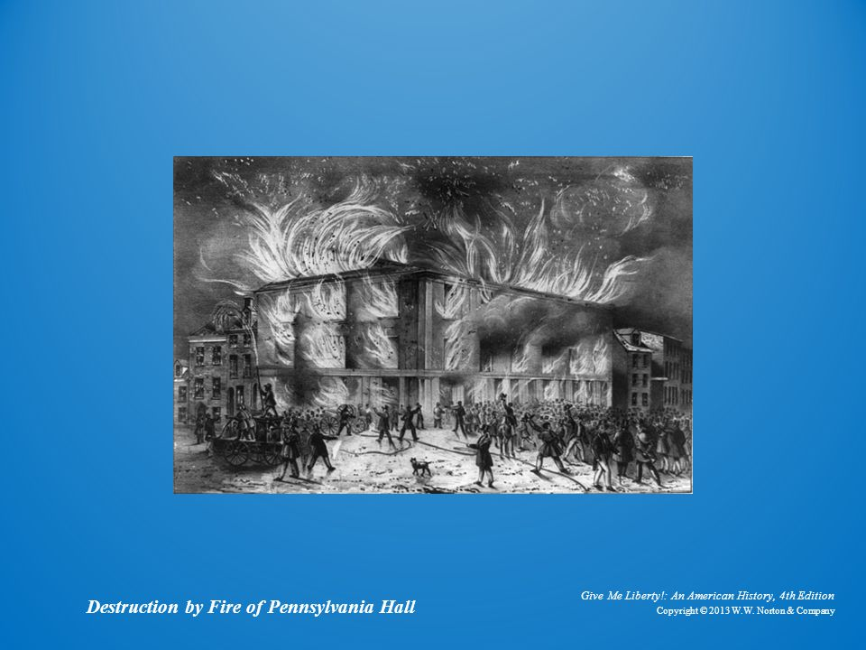 Lithograph Destruction by Fire of Pennsylvania Hall