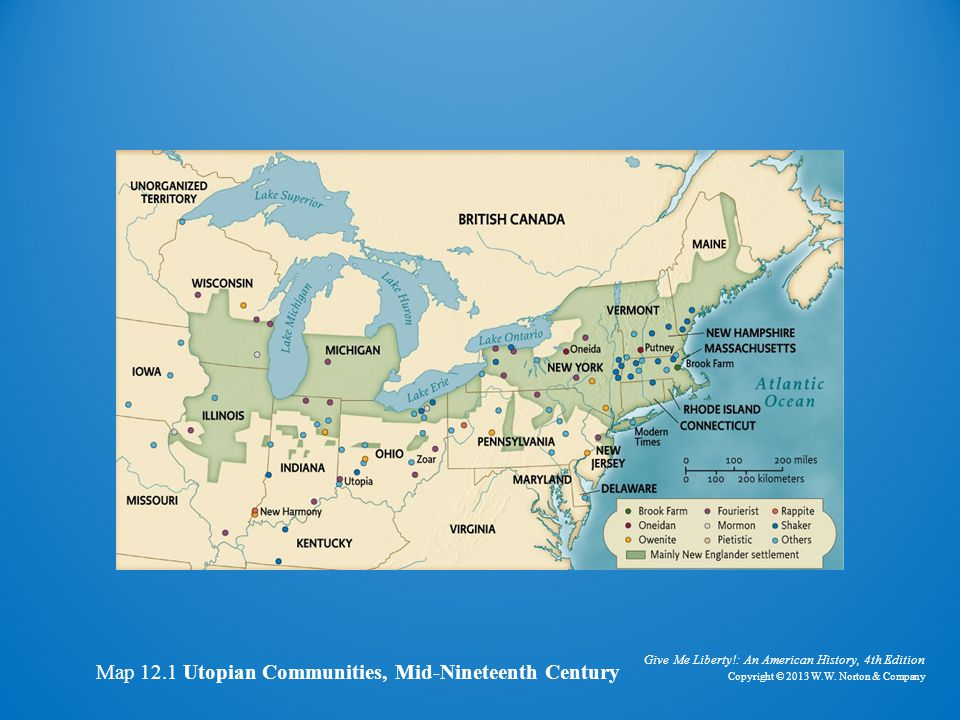 Map of Utopian Communities
