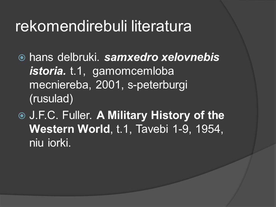 rekomendirebuli literatura